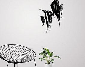 Angel fish wall art and Decor 3D printable model