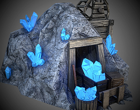 Crystal mine 3D model