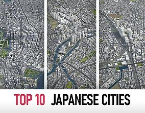 3D Top 10 Japanese Cities