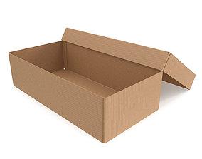 Cardboard box 09 3D asset