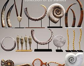 Set of statues and sculptures 3 3D model