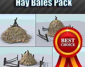 3D asset Hay Bales Pack