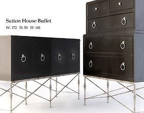 3D model Bernhardt Sutton House Buffet and Tall Chest Deck