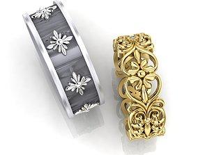Wedding Rings 3D printable model leaves