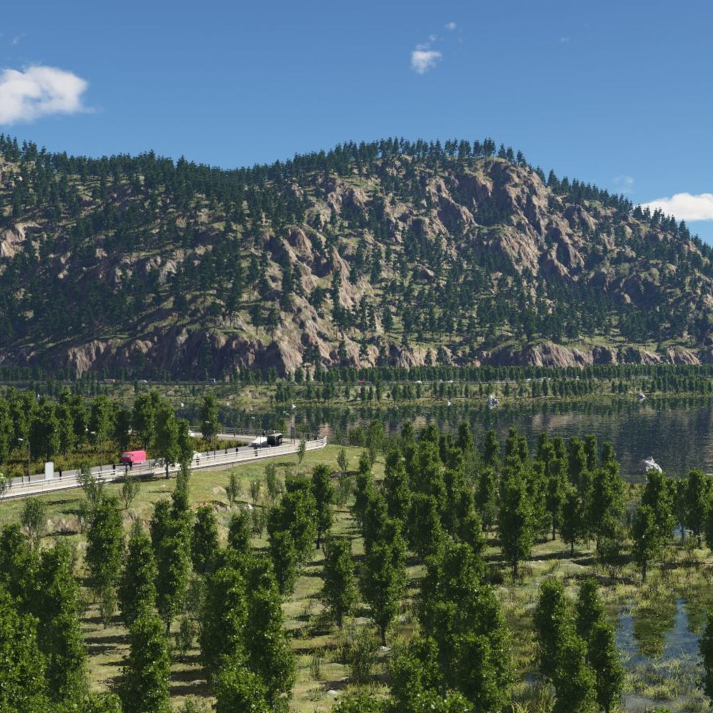 On the lakesides in Terragen