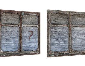 low-poly 2Model Factory Building Doors