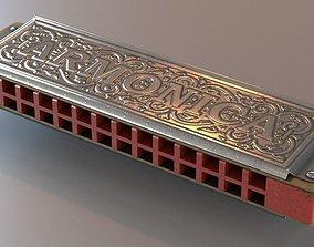 3D model Diatonic Harp