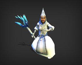 animated Ice Wizard Model