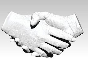 Handshake Realistic hands pair 3D print cnc