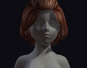 beauty hair 3D model realtime