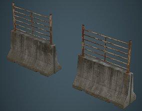 Concrete Barrier 2D 3D model