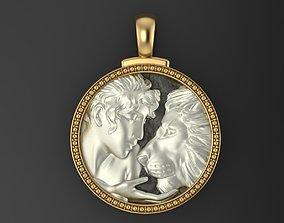 Horoscope Lion pendant 3D printable model