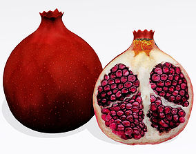 Pomegranate whole 3D