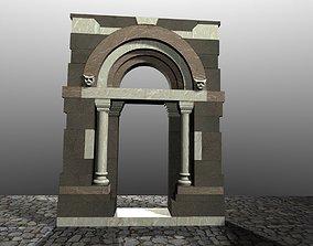 Medieval Romanic Style Portal no 3 3D asset