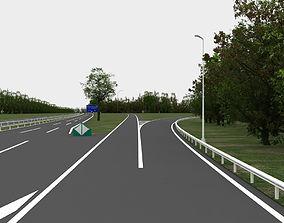 highway navigation 3D road exterior-public