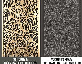 decorative panel 73 3d model and vector format