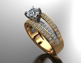 3D print model MGold019r - Beautiful Engagement Ring