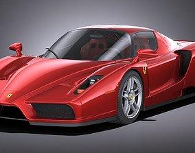 3D model HQ LowPoly Ferrari Enzo F60 2002