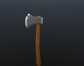 Low Poly Axe 3D model realtime