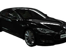 Vehicle Tesla Model S Realistic PBR Car with animated