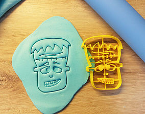 kitchen-dining Frankenstein cookie cutter 3D print model