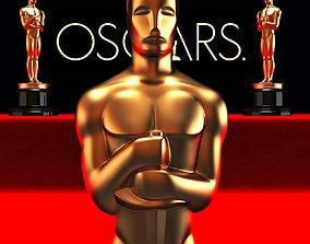 3D print model Oscar statuette and bonus melted