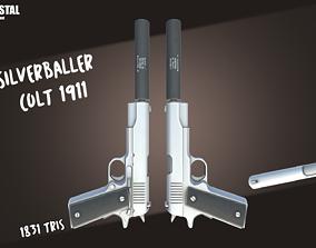 Low Poly Guns Pack 3D asset