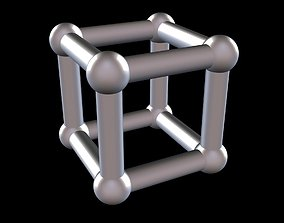 002 Mathart - Platonic Solids - Cube 02 - 3D print model 1