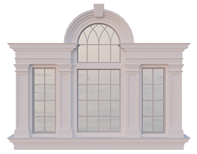 Palladian Window - Venetian window 3D asset