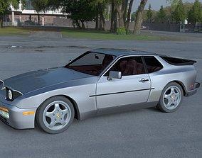 3D Porsche 944 Turbo S with interior HDRI