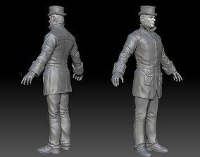 gentleman ZBrush raw file 3D model
