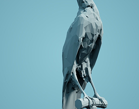 Low Poly Bird Model animals low