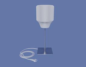 Table lamp shade for standard E27 mount 3D print model 1