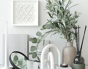 3D Decorative set with eucalyptus