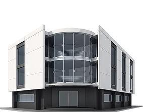 3D model Corner Building