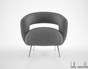 Kelly Wearstler Laurel Lounge Chair 3D