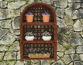 flowers 3D asset low-poly