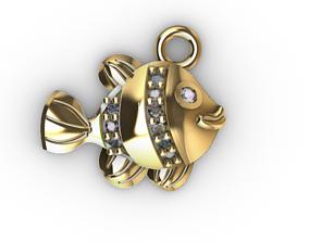 pez nemo fish gold 3D print model