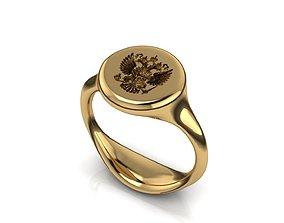 men ring 19 seal ring 3D print model