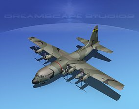 Lockheed C-130 Hercules USAF 3 3D model