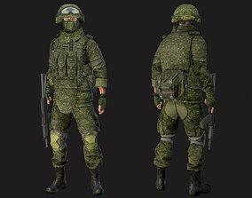 Soldier in equipment Ratnik 3D asset rigged