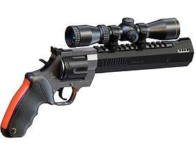 Taurus Raging Hunter Revolver With Scope 3D asset