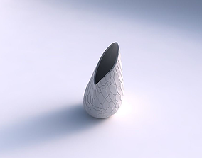 Vase Flame twisted with organic cells 3D printable model