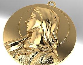 3D printable model Mary Christ pendant