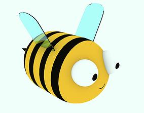 3D model tree Bee cute