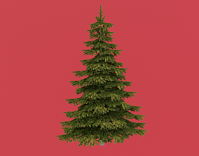environment leaf Christmas tree 3D model