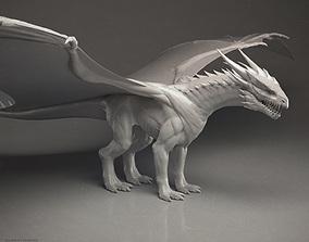 3D model Western Dragon - Highpoly Sculpture