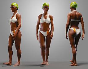 3D model SwimmingpoolgirlBCasualA