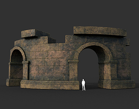 3D model Low poly Ancient Roman Ruin Construction 03 - 1