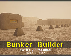 low-poly Bunker Builder Asset Pack